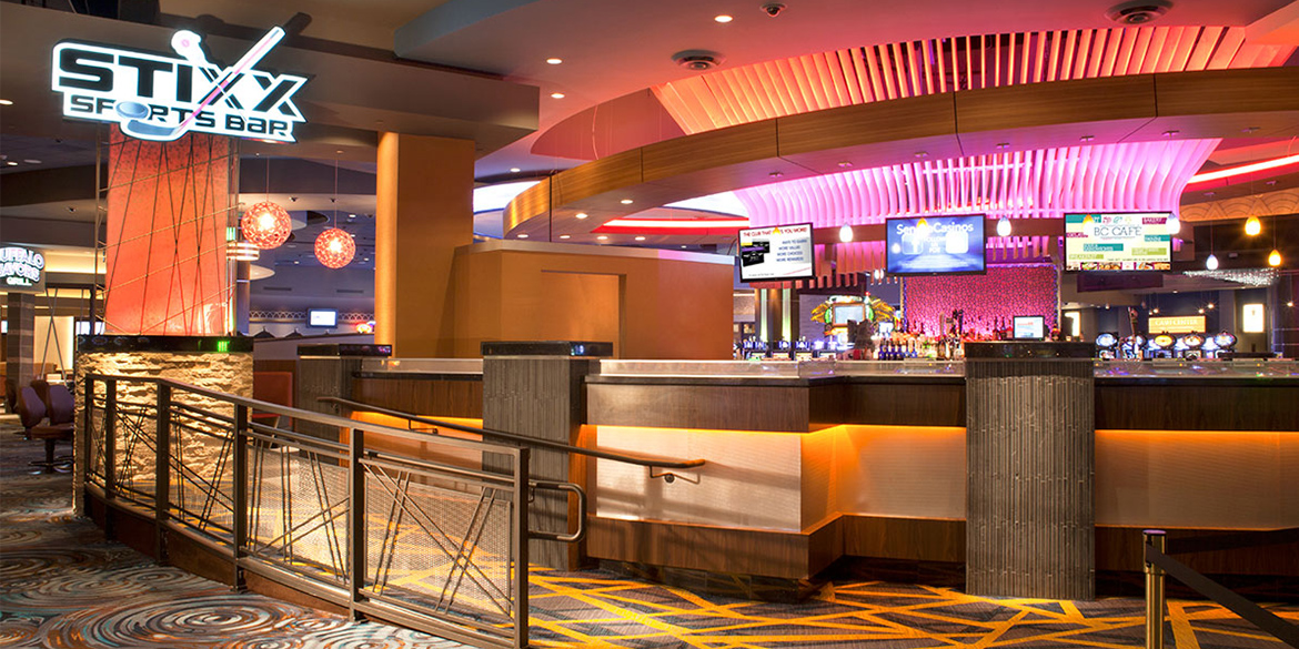 Photo of Stixx Sports Bar at Seneca Buffalo Creek Casino