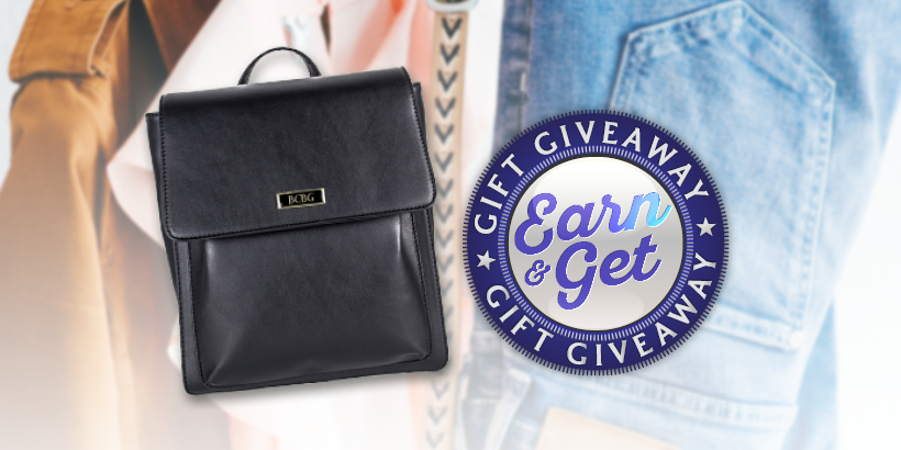 Earn & Get Gift Giveaway: BCBG Backpack Purse